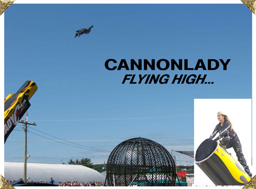 Canon Lady Flying High